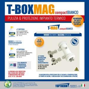 T-BOX MAG COMPACT, zestaw z wymianą wody w instalacji (dom 80-100m2, filtr 8 500 gauss)
