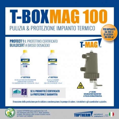 T-BOX MAG 100, zestaw z wymianą wody w instalacji (80-100m2, filtr 10 000 gauss)