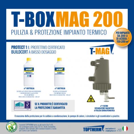 T-BOX MAG 200, zestaw z wymianą wody w instalacji (dom 150-200m2, filtr 10 000 gauss)