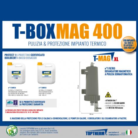 T-BOX MAG 400, zestaw z wymianą wody w instalacji (dom 300-400m2, filtr 10 000 gauss)