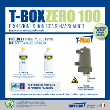 T-BOX ZERO 100 Gotowy zestaw do czyszczenia i zabezpieczenia instalacji bez spuszczania wody (dom 80-100m2, filtr 10 000 gauss)