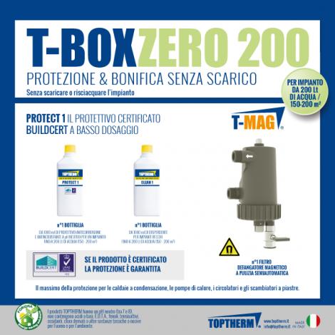T-BOX ZERO 200, zestaw bez wymiany wody w instalacji (dom 150-200m2, filtr 10 000 gauss)