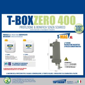 T-BOX ZERO 400, zestaw bez wymiany wody w instalacji (dom 300-400m2, filtr 10 000 gauss)