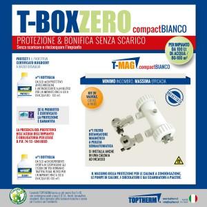 T-BOX ZERO COMPACT Gotowy zestaw do czyszczenia i zabezpieczenia instalacji bez spuszczania wody (dom 80-100m2, filtr 8 500 gauss)